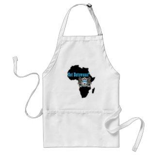 Camiseta de la bandera de Botswana y etc Delantal