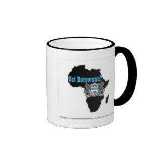 Camiseta de la bandera de Botswana y etc Taza De Dos Colores