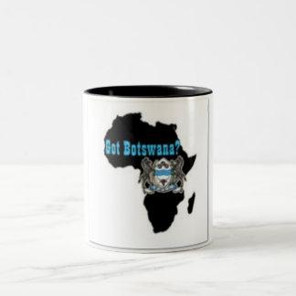Camiseta de la bandera de Botswana y etc Taza De Dos Tonos