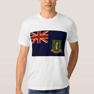 Camiseta de la bandera de British Virgin Islands Poleras