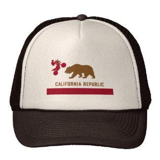 Camiseta de la bandera de California - bici de la  Gorras De Camionero