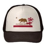 Camiseta de la bandera de California - persona que Gorro De Camionero