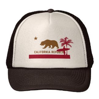 Camiseta de la bandera de California - persona que Gorras