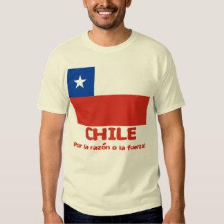 Camiseta de la bandera de Chile con lema chileno Remera