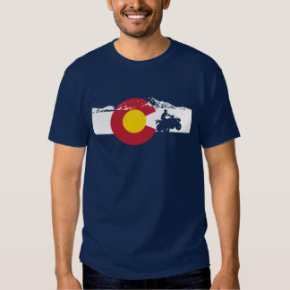 Camiseta de la bandera de Colorado - ATV - todo el Playera