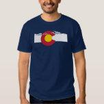 Camiseta de la bandera de Colorado - montañas Camisas