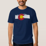 Camiseta de la bandera de Colorado - montañas Playera