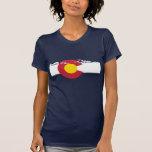 Camiseta de la bandera de Colorado - montañas Playeras