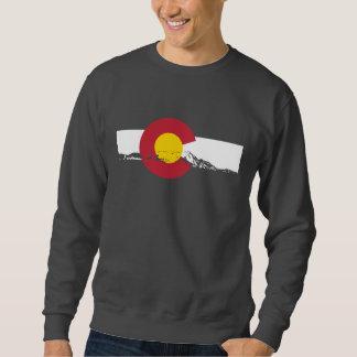 Camiseta de la bandera de Colorado - montañas Pulovers Sudaderas