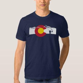 Camiseta de la bandera de Colorado - pesca con Playera