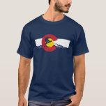 Camiseta de la bandera de Colorado - Snowboarder -