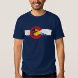 Camiseta de la bandera de Colorado - Snowboarder - Playeras