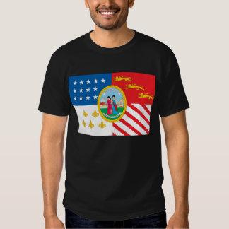 Camiseta de la bandera de Detroit Playeras