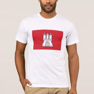 Camiseta de la bandera de Hamburgo