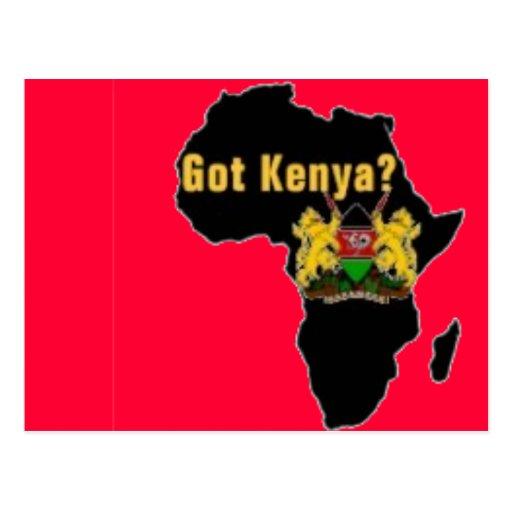 Camiseta de la bandera de Kenia y etc Tarjetas Postales