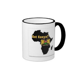 Camiseta de la bandera de Kenia y etc Taza De Dos Colores