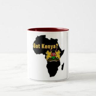 Camiseta de la bandera de Kenia y etc Taza De Dos Tonos