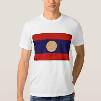 Camiseta de la bandera de Laos Remera