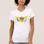 Camiseta de la bandera de las Islas Vírgenes de Playera