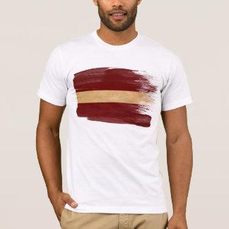 Camiseta de la bandera de Letonia