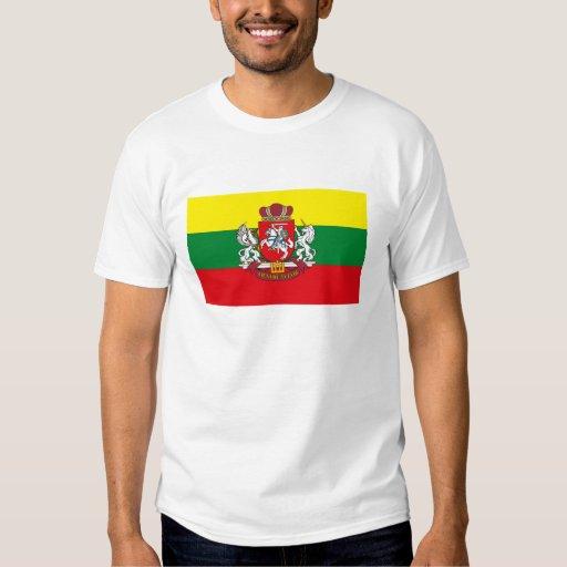 Camiseta de la bandera de Lituania Playeras
