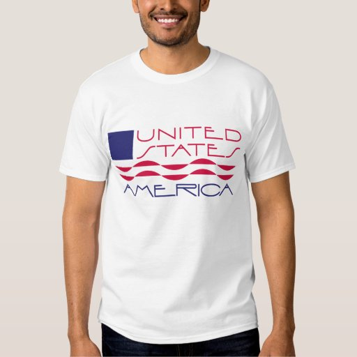 Camiseta de la bandera de los Estados Unidos de Poleras