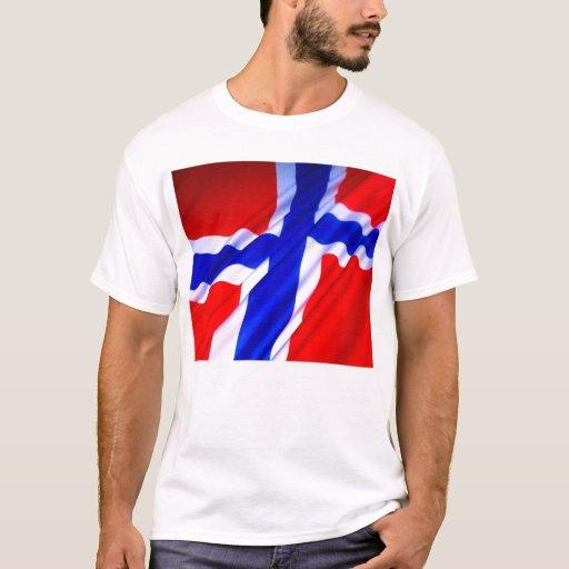 Camiseta de la bandera de Noruega