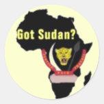 """Camiseta de la bandera de """"Sudán"""" y etc Pegatina Redonda"""