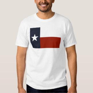 Camiseta de la bandera de Tejas Playeras