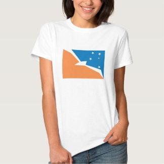 Camiseta de la bandera de Tierra del Fuego Playeras