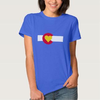 Camiseta de la bandera del amor de Colorado Camisas