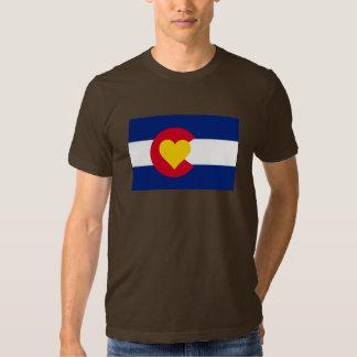 Camiseta de la bandera del amor de Colorado Remera