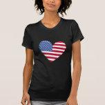 Camiseta de la bandera del corazón de Estados
