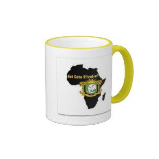 """""""Camiseta de la bandera del d'Ivoire de Côte"""" y Taza De Dos Colores"""