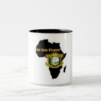 """""""Camiseta de la bandera del d'Ivoire de Côte"""" y Taza De Dos Tonos"""