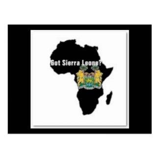 Camiseta de la bandera del Sierra Leone (África) y Postales