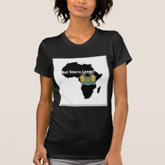 Camiseta de la bandera del Sierra Leone (África) y Remeras