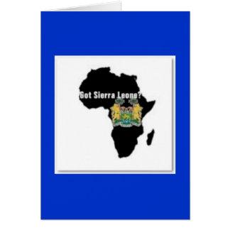 Camiseta de la bandera del Sierra Leone (África) y Tarjeta De Felicitación