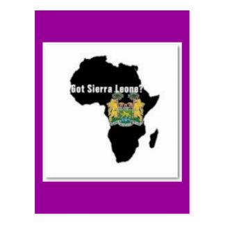 Camiseta de la bandera del Sierra Leone (África) y Tarjeta Postal