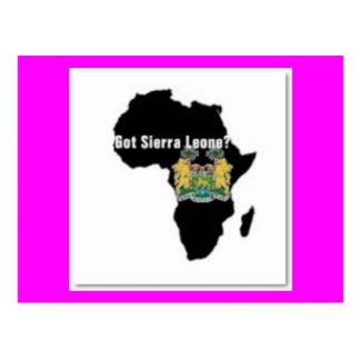 Camiseta de la bandera del Sierra Leone (África) y Tarjetas Postales