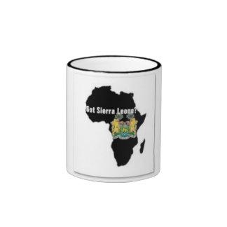 Camiseta de la bandera del Sierra Leone (África) y Taza De Dos Colores