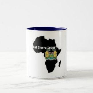 Camiseta de la bandera del Sierra Leone (África) y Taza De Dos Tonos