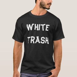 Camiseta de la basura blanca