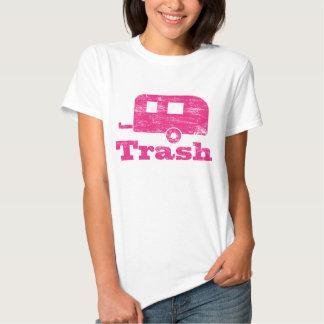 Camiseta de la basura del remolque del vintage camisas