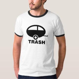 Camiseta de la basura del remolque polera