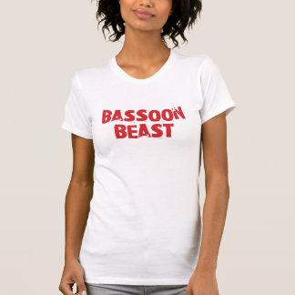 Camiseta de la bestia del Bassoon - señoras