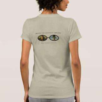 Camiseta de la biblioteca de la colección de la im