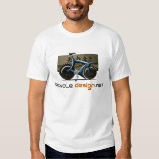 Camiseta de la bici de la pista del diseño de la playeras