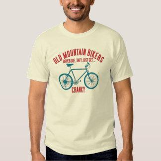 Camiseta de la bici de montaña de la escuela vieja playeras