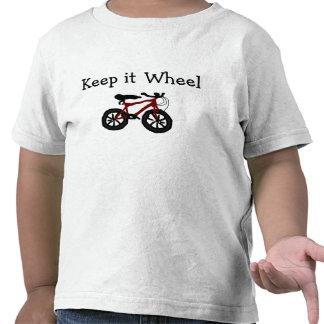 Camiseta de la bici del niño de la Guardar-él-Rued